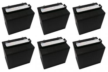 1 Satz Batterien Q-Batteries 8DC-170 8V 170Ah Deep Cycle